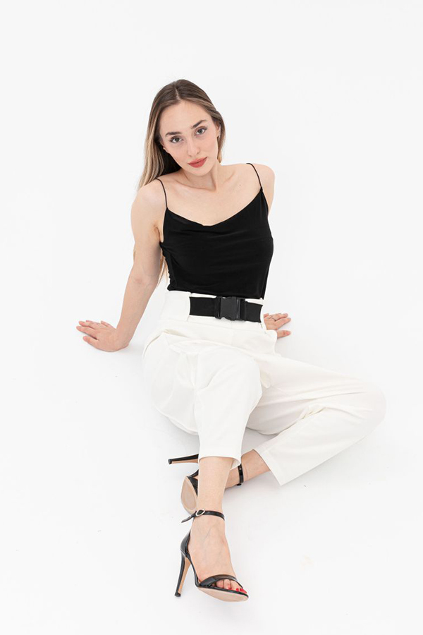 Combed Combed Cotton Trousers Ecru